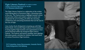 Join us at the Elgin Literary Festival January 29-30